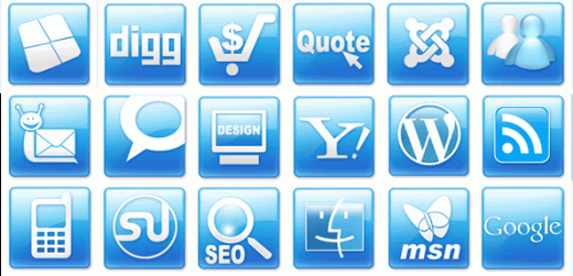 220 free high quality web 20 icons for web design projects web 20 icons sciox Choice Image
