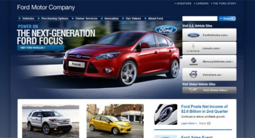 30 awesome corporate website designs for business for Ford motor company corporate