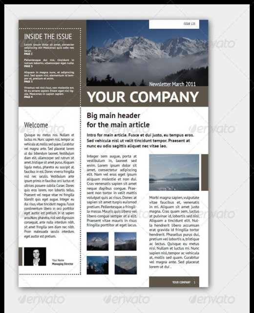 A Roundup Of Creative Premium Newsletter Templates - Graphicsbeam
