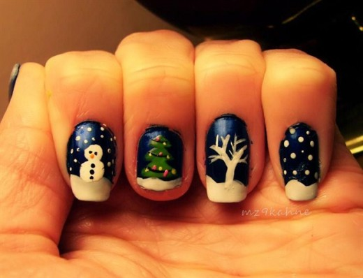 25 superb winter nail art designs graphicsbeam nail art design for winter 2012 13 prinsesfo Image collections