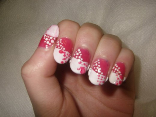 Nail art white and pink best nails art ideas prinsesfo Choice Image