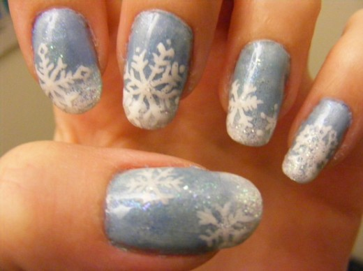 Nail art designs amazing winter nail art designs snow nails prinsesfo Gallery