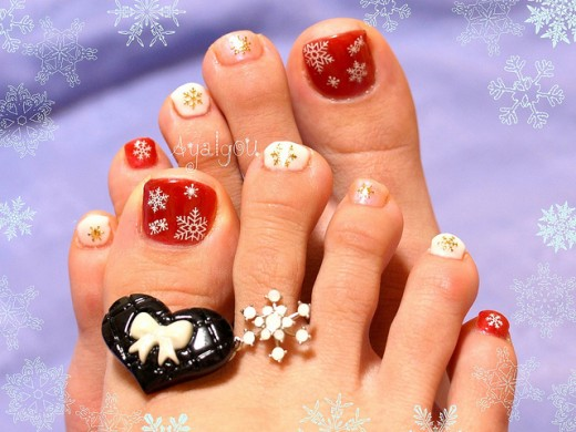 winter toenails