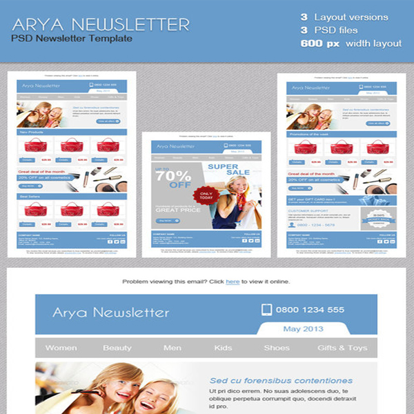 arya-newsletter-template