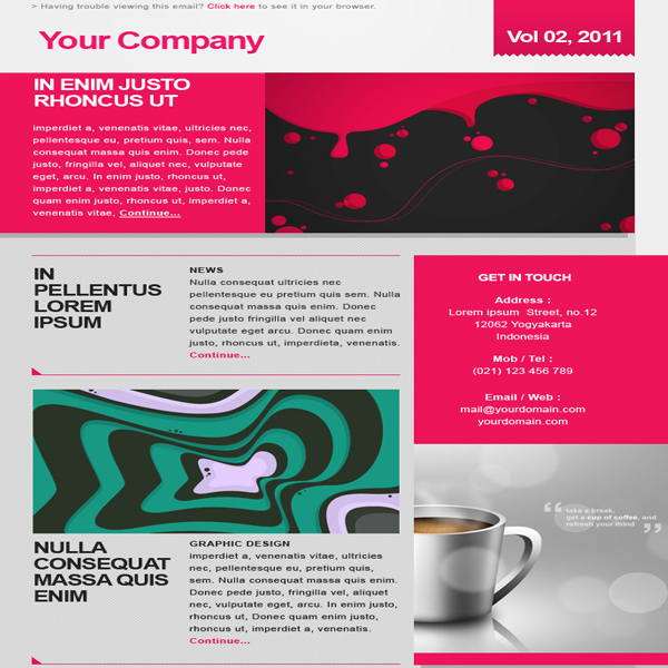 freebie-and-elegant-free-newsletter - Free Newsletter Template Designs