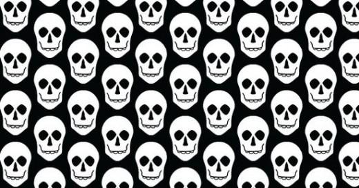 free halloween vector patterns skulls
