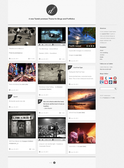 20 Remarkable Examples of Premium Tumblr Themes - GraphicsBeam