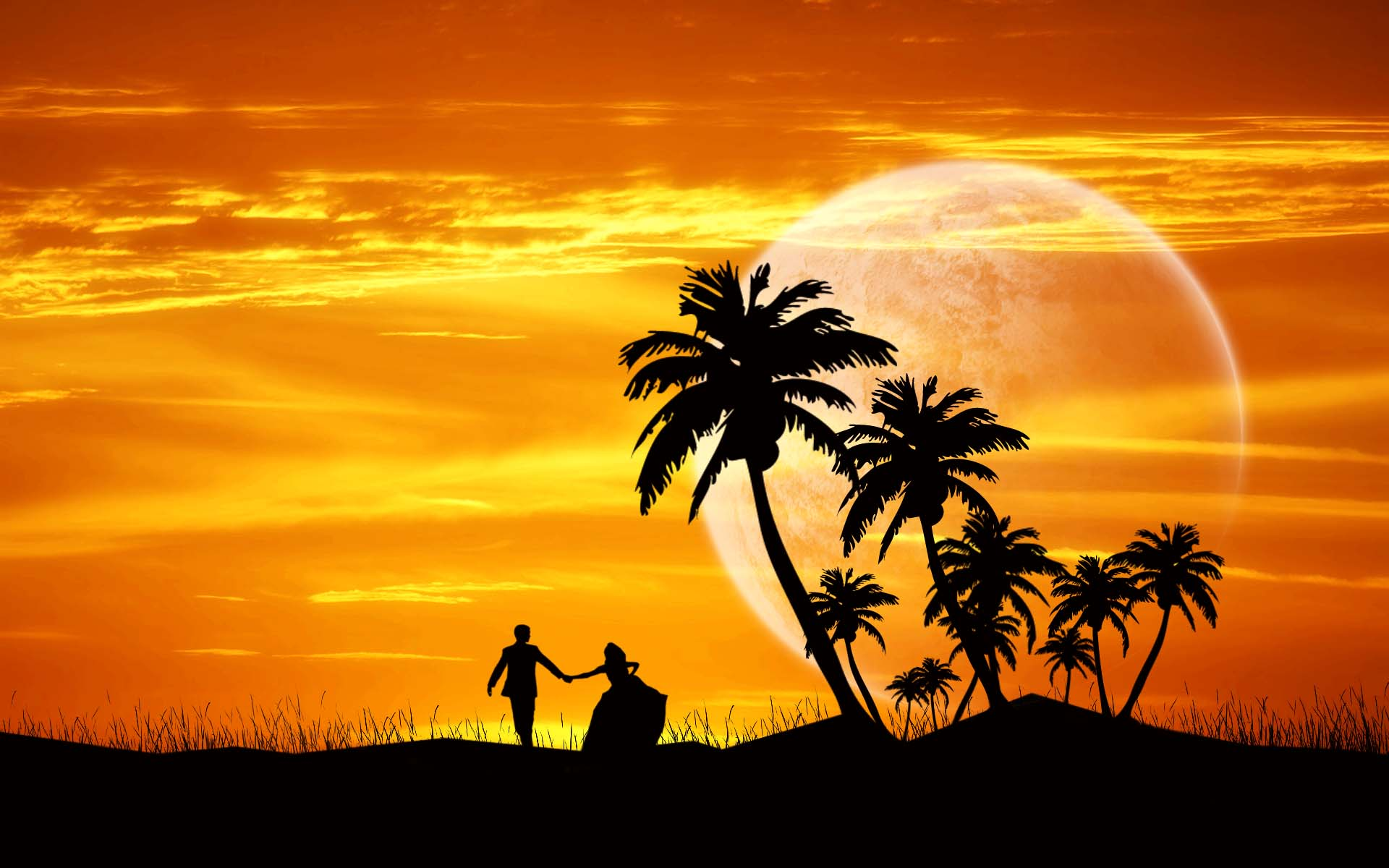 Couple Dance Evening - Valentine Day Wallpapers