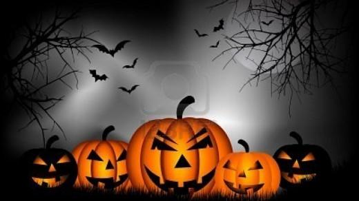Spooky Pumpkin in Halloween