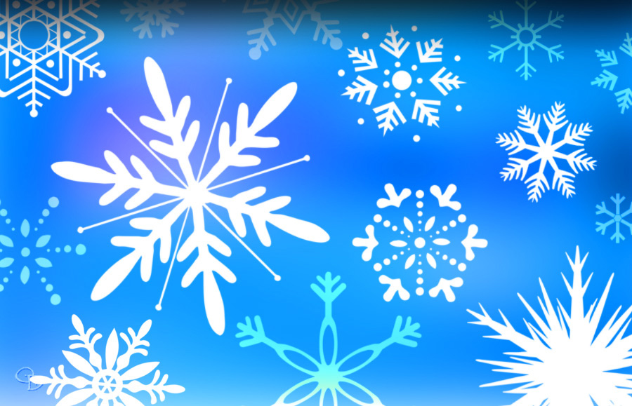 Snow Flake and Ice Brushes for Photoshop