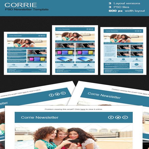 corrie-newsletter-template