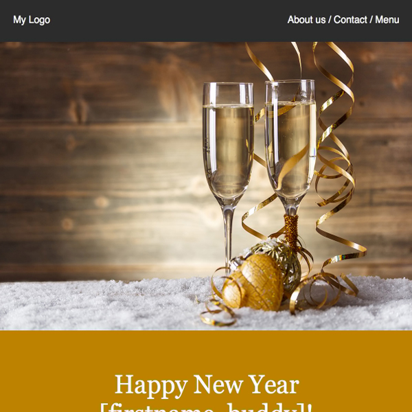 new years newsletter template