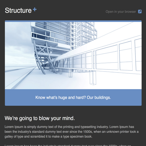 structure-newsletter-template