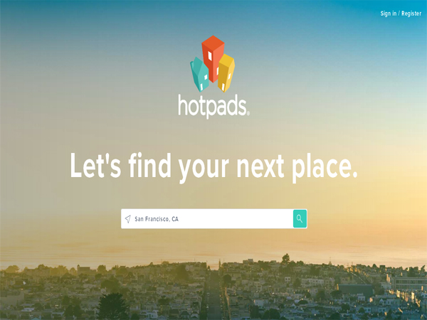 hotpads - Best Real Estate Website Designs